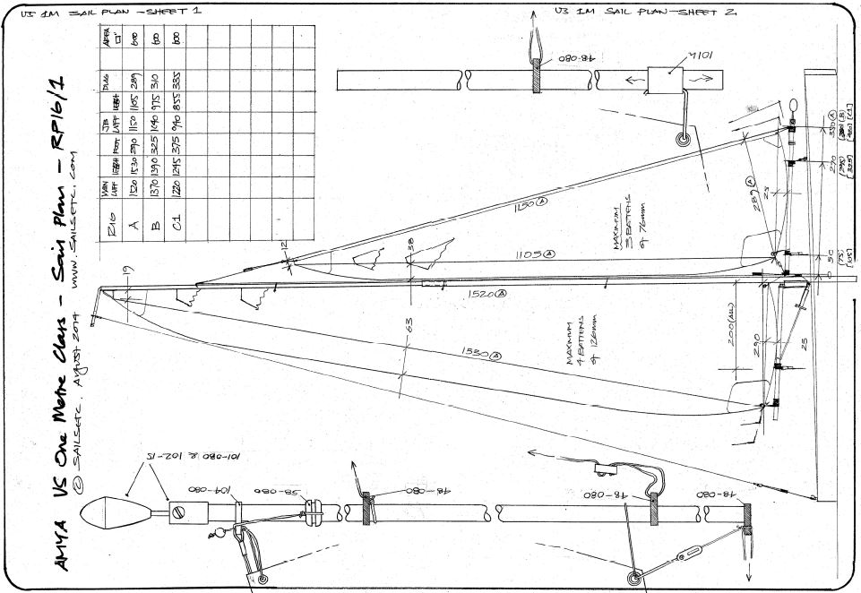 FREE Downloadable Documents - Boom & Rig Plans etc [DD1] - It's Free! : Radio Sailing Shop